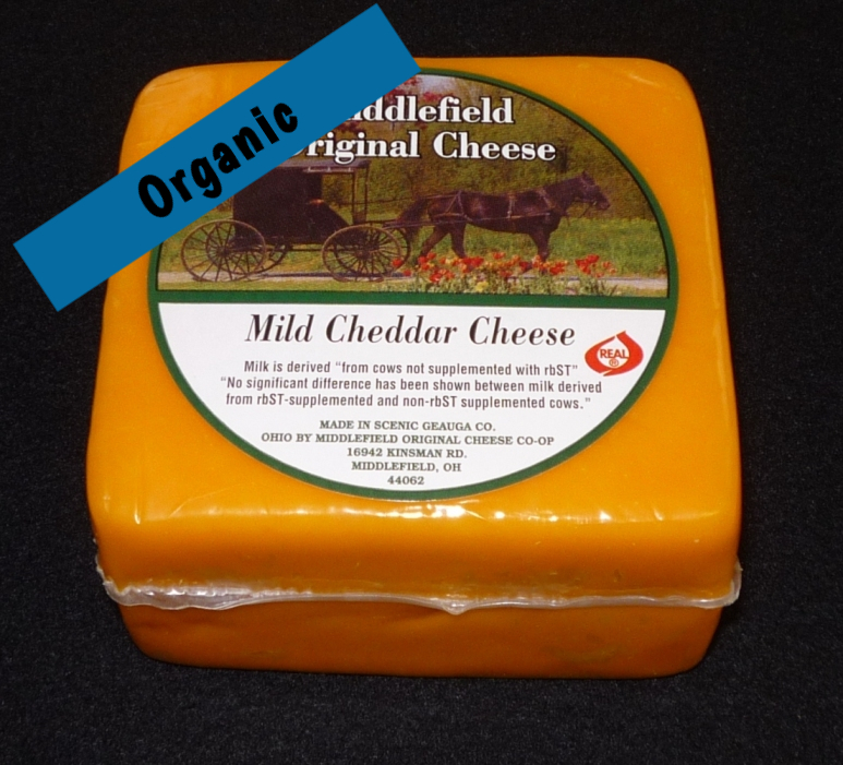Organic Mild Colored Cheddar 8oz
