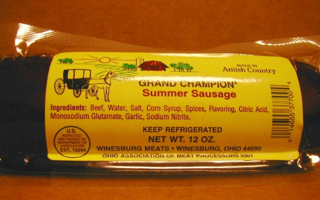 Winesburg Summer Sausage 12oz winesburg summer sausage, sausage, summer sausage, amish, amish sausage, amish winesburg sausage, amish, amish natural food, natural food, online amish store, online amish, online, amish food, near me